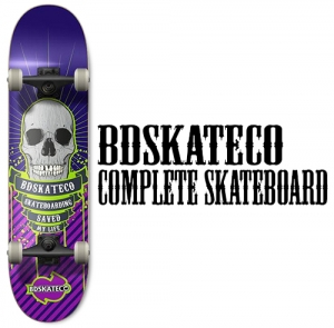 비디스케이트보드BDSKATECO BIG SKULL PURPLE