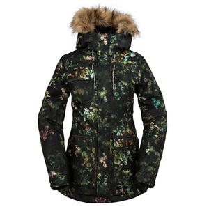 볼컴 스노우보드 자켓1617 VOLCOM SHADOW INSULATED JAKETBLACK FLORAL PRINT