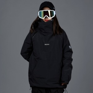 [바운드 스노우보드복 자켓]2021 BOUNDDOUBLE ZIP PULLOVER JACKETTRUE BLACK